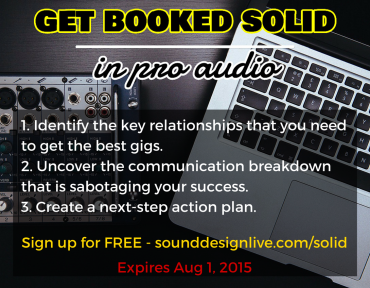 Get Booked Solid in Pro Audio